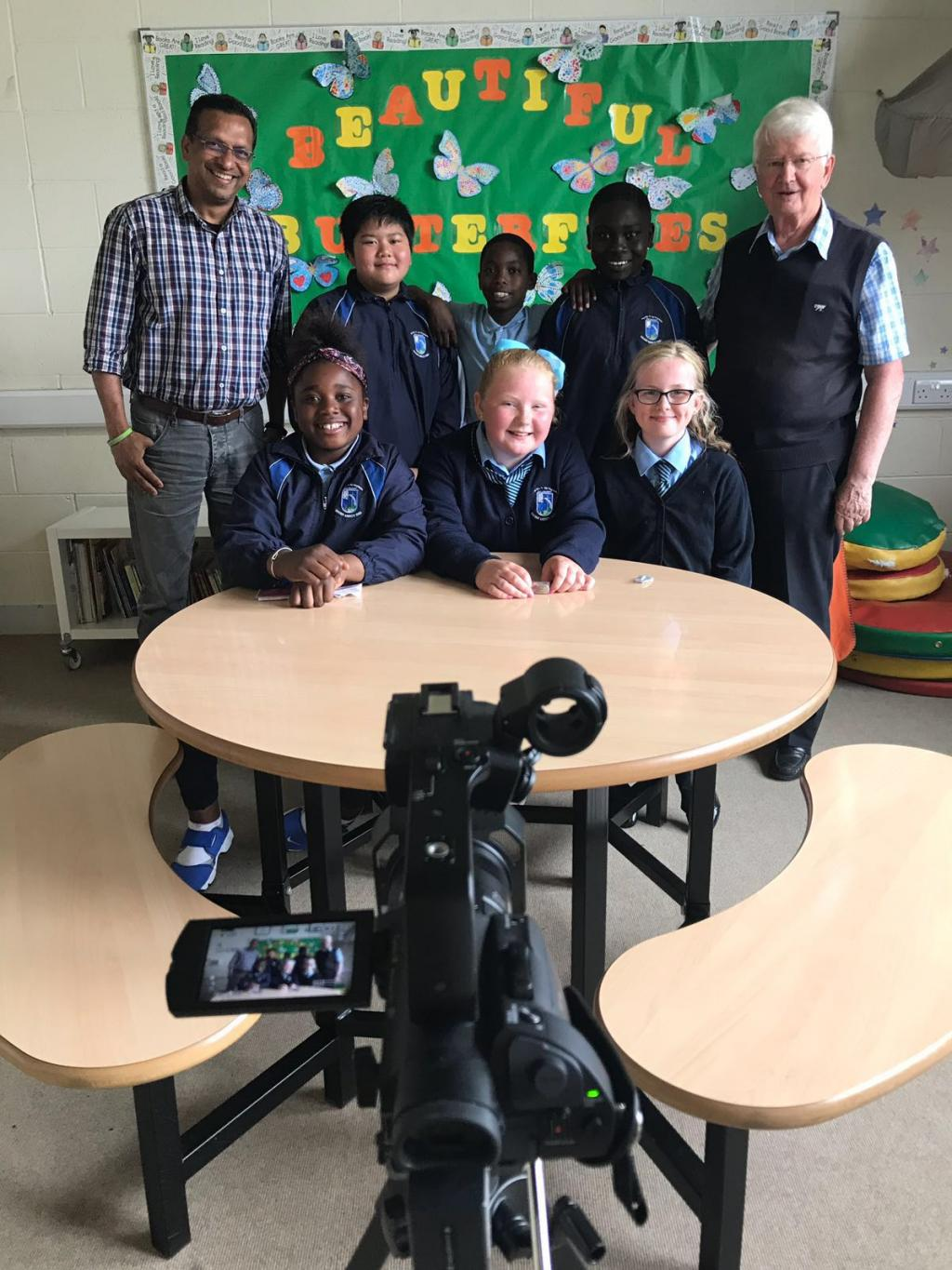 5th Class Children - Future TV Stars!