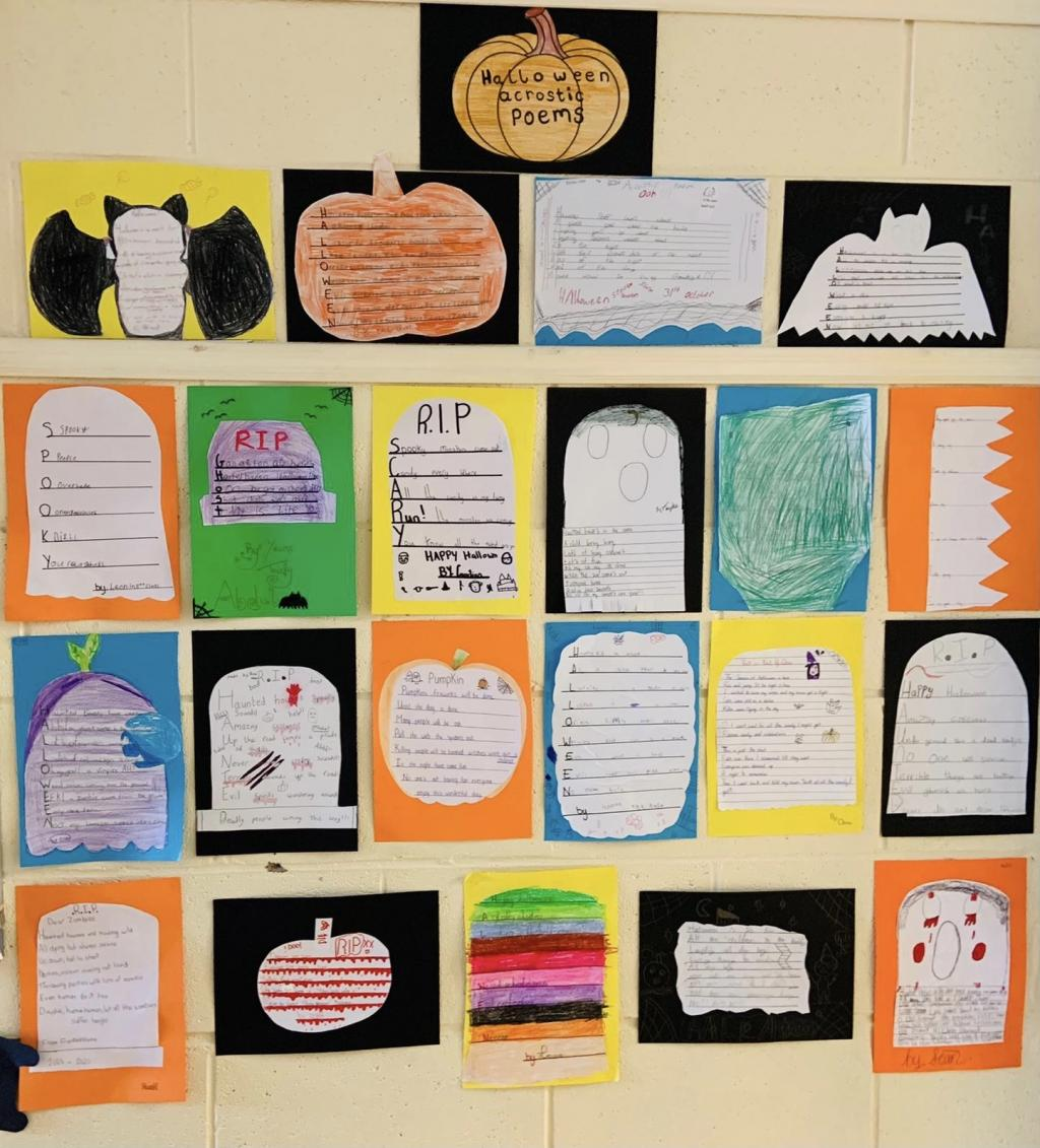 Room 7 - Halloween Acrostic Poems